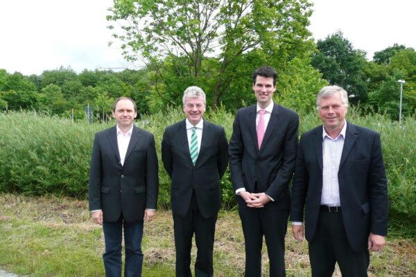 v. l. n. r.: Prof. Dr. Klaus Schäfer, Prof. Dr. Daniel Baier, Prof. Dr. Thorsten Knauer, Prof. Dr. Torsten M. Kühlmann